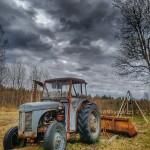Gamla Grållen som hör till gården. Den funkar att köra!! Foto: Lars Madsen